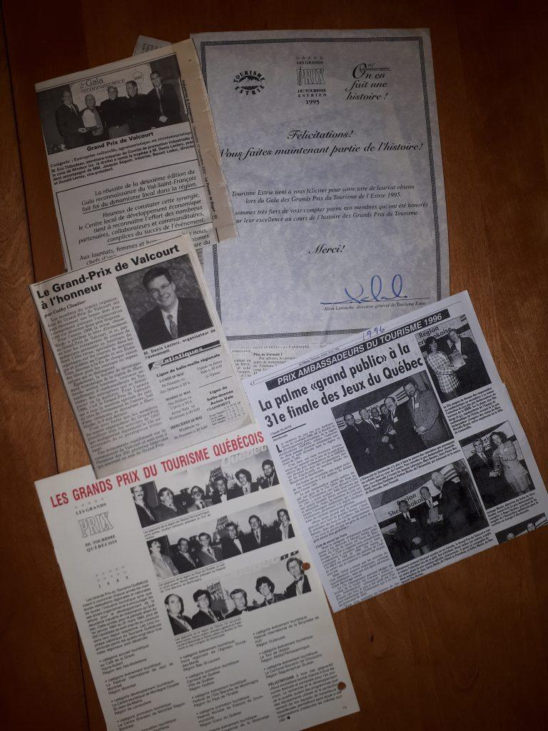 Mérites et prix à travers les années